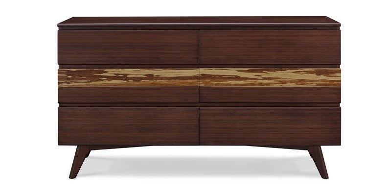 Azara Six Drawer Dresser, Sable