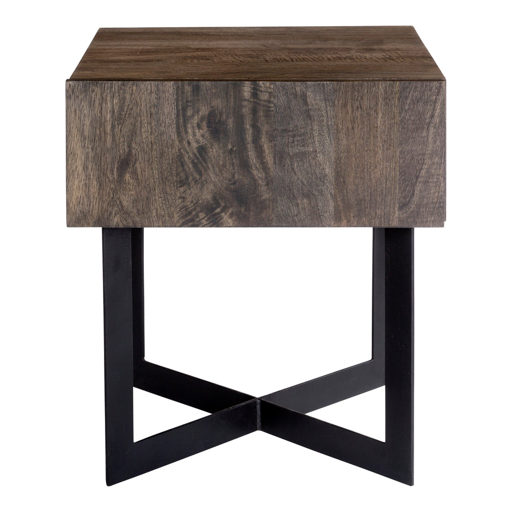 Tiburon Side Table Natural Natural Side Table Moe's Four Hands, Mid Century Modern Furniture, Old Bones Furniture Company, https://www.oldbonesco.com/