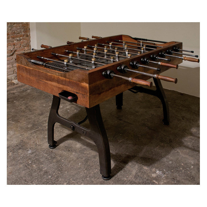 Foosball Burnt Umber Wood Gaming Table - Old Bones Furniture Company