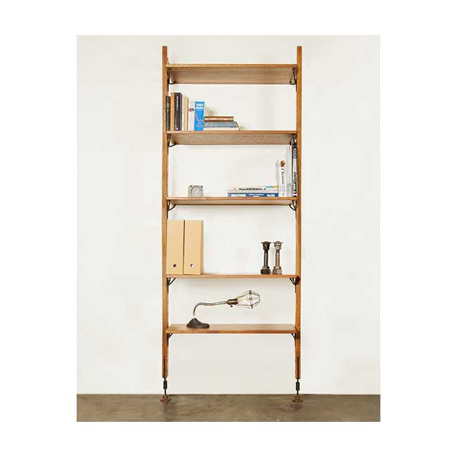 Theo Hard Fumed Wood Modular Shelving - Old Bones Furniture Company