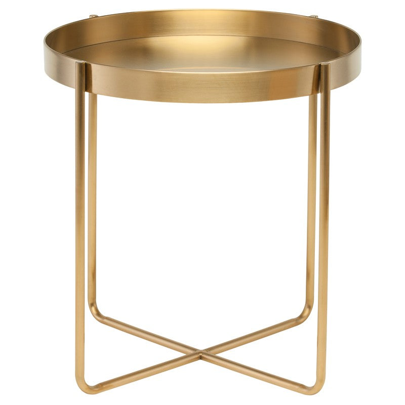 Gaultier Gold Metal Side Table