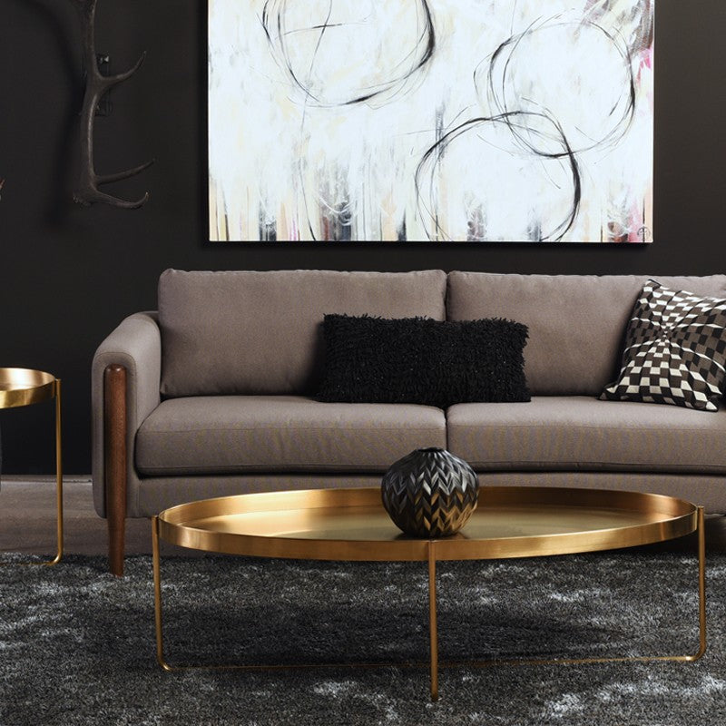 Gaultier Gold Metal Oval Coffee Table