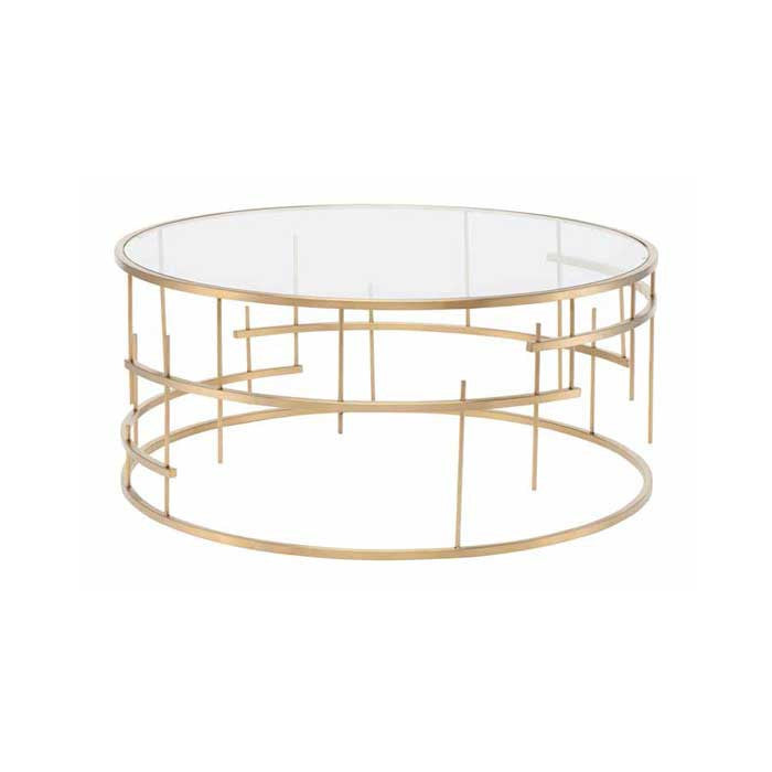Tiffany Clear Glass Coffee Table - Old Bones Furniture Company