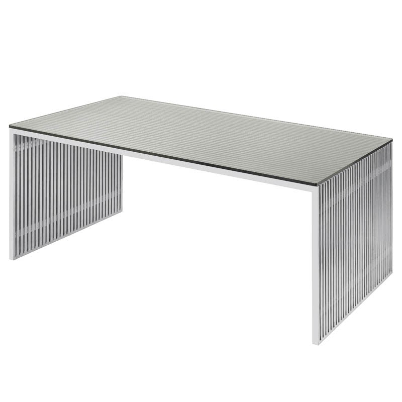 Amici Clear Glass Dining Table