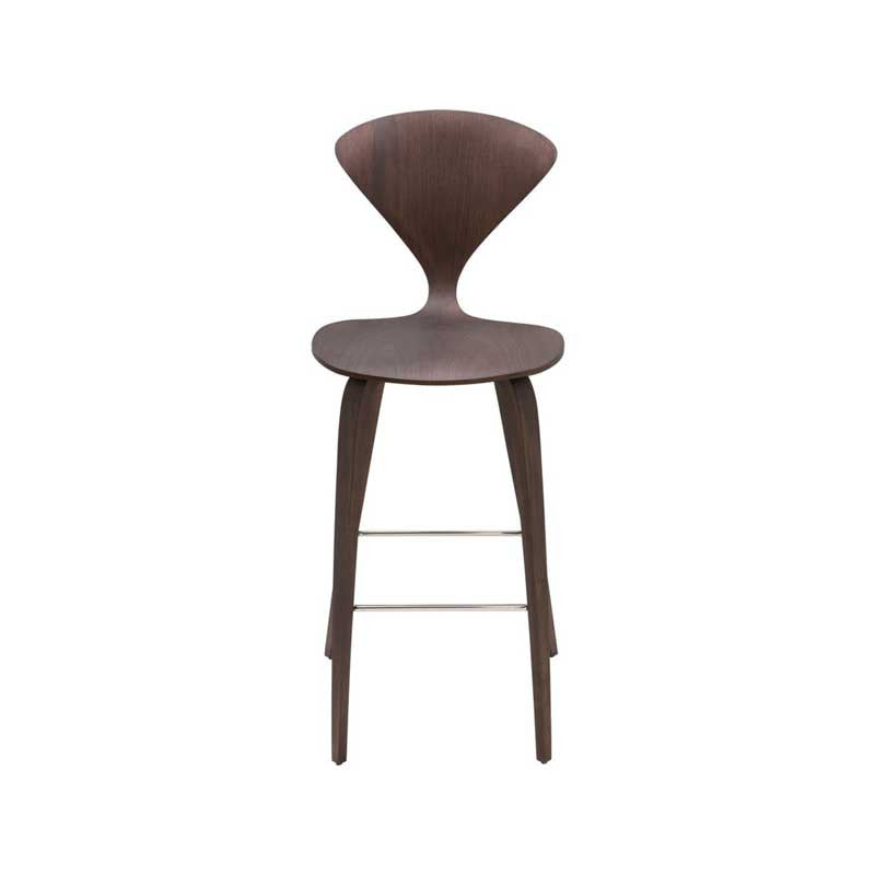 Satine Dark Walnut Wood Counter Stool Old Bones