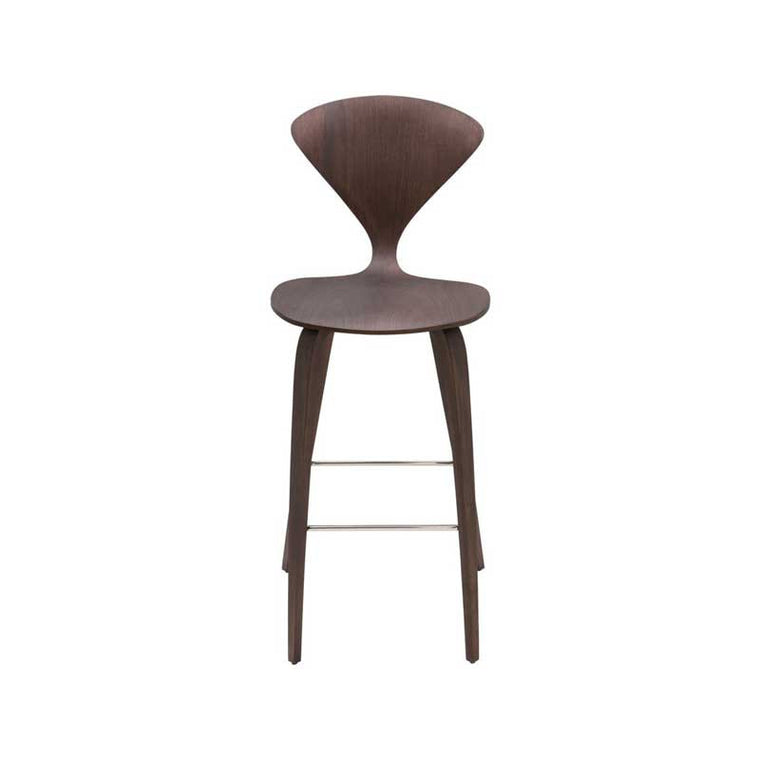 Satine Dark Walnut Wood Counter Stool