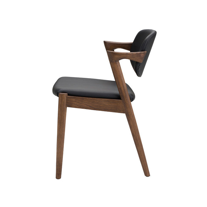 Kalli Black Naugahyde Dining Chair - Old Bones Furniture Company