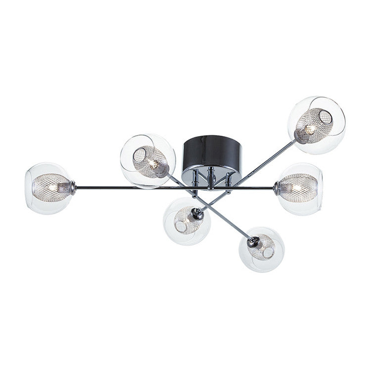Estelle 6 Clear Glass Ceiling Lighting - Old Bones Furniture Company