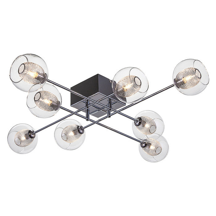 Estelle 8 Clear Glass Ceiling Lighting - Old Bones Furniture Company