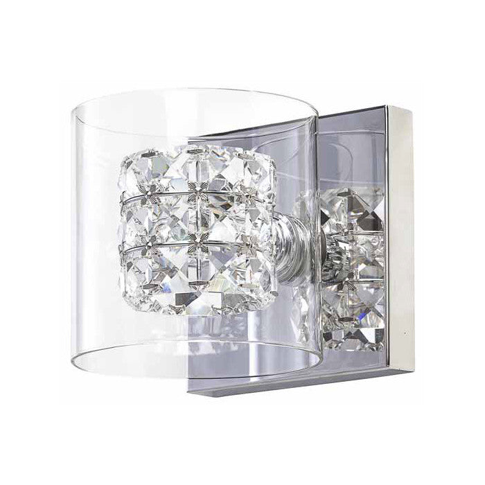 Elsa Clear Glass Sconce Lighting - Old Bones Furniture Company