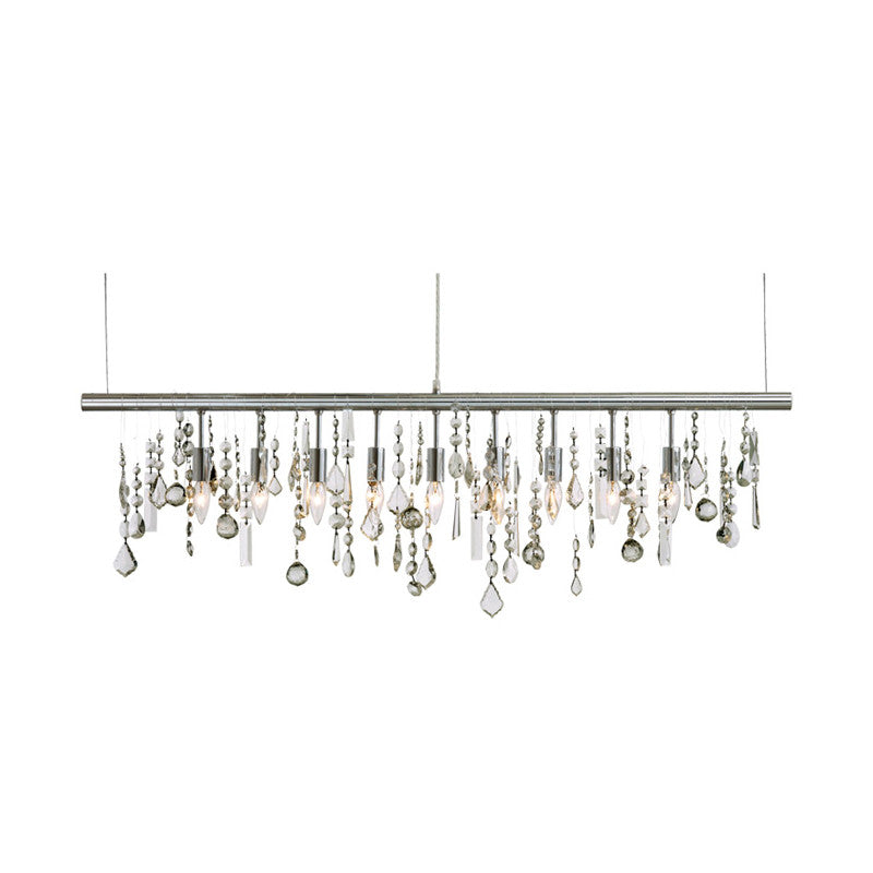 Crystal Linear Clear Glass Pendant Lighting   LIGHTING Nuevo Four Hands, Mid Century Modern Furniture, Old Bones Furniture Company, https://www.oldbonesco.com/
