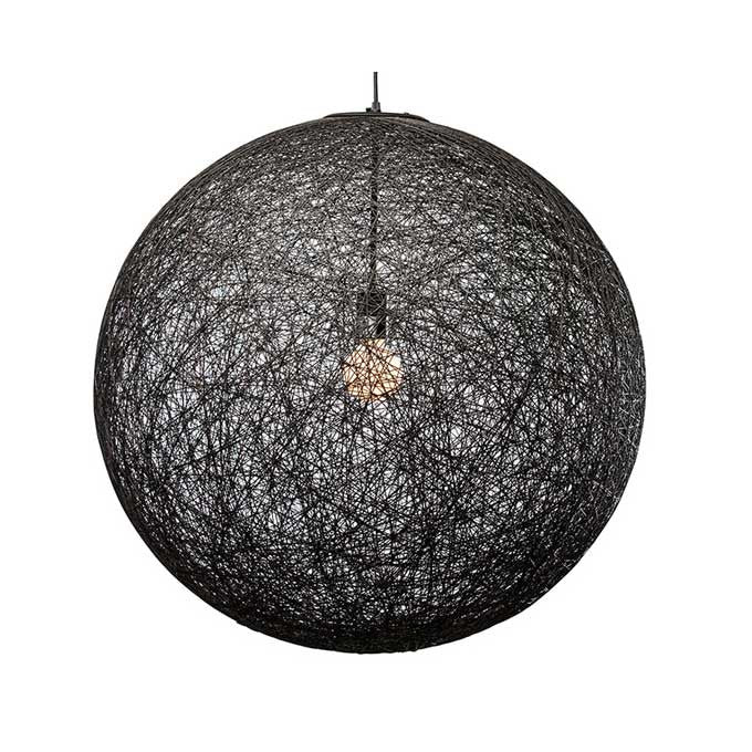 String 24 Black String Pendant Lighting - Old Bones Furniture Company