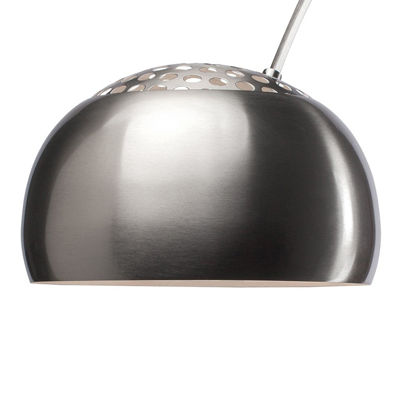 Cora Silver Metal Floor Lighting - Black Marble Base