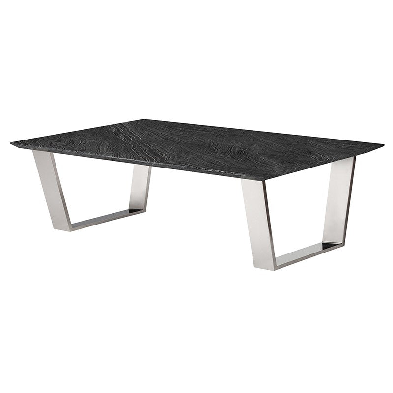 Catrine Black Stone Coffee Table