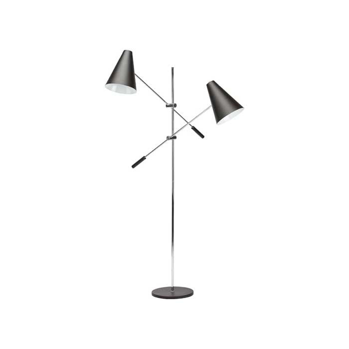 Tivat Black Metal Floor Lighting   LIGHTING Nuevo Four Hands, Mid Century Modern Furniture, Old Bones Furniture Company, https://www.oldbonesco.com/