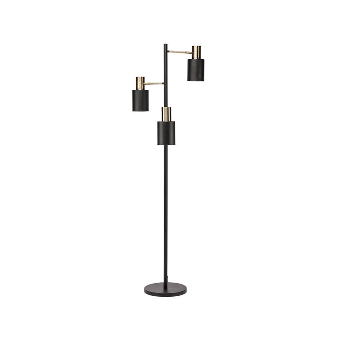 Lucca Black Metal Floor Lighting - Old Bones Furniture Company