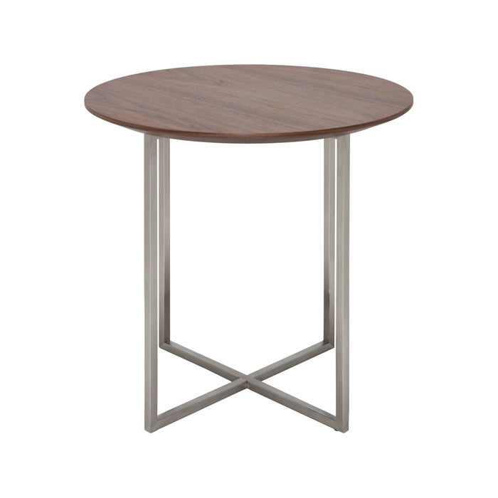 Dixon Walnut Wood Side Table - Old Bones Furniture Company