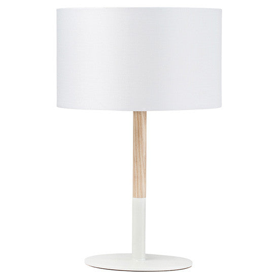 Monroe Table Lamp White/Oak White/Oak Table Lamp Nuevo Four Hands, Mid Century Modern Furniture, Old Bones Furniture Company, https://www.oldbonesco.com/
