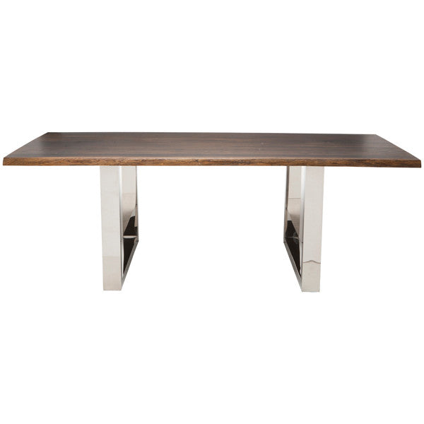 Lyon Seared Wood Dining Table - Old Bones Furniture Company