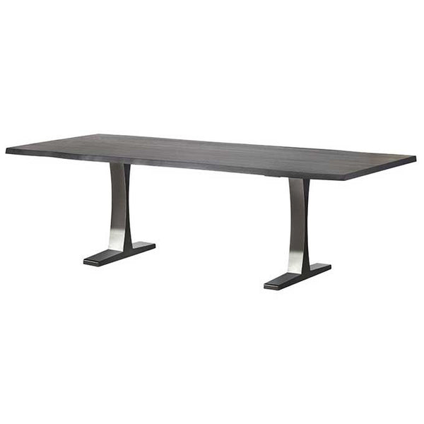Toulouse Oxidized Grey Wood Dining Table - Old Bones Furniture Company
