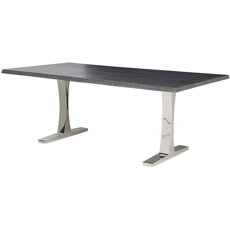 Toulouse Oxidized Grey Wood Dining Table   TABLE Nuevo Four Hands, Mid Century Modern Furniture, Old Bones Furniture Company, https://www.oldbonesco.com/