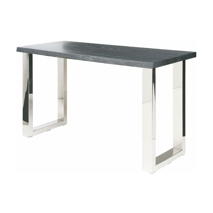Lyon Oxidized Grey Wood Console Table - Old Bones Furniture Company