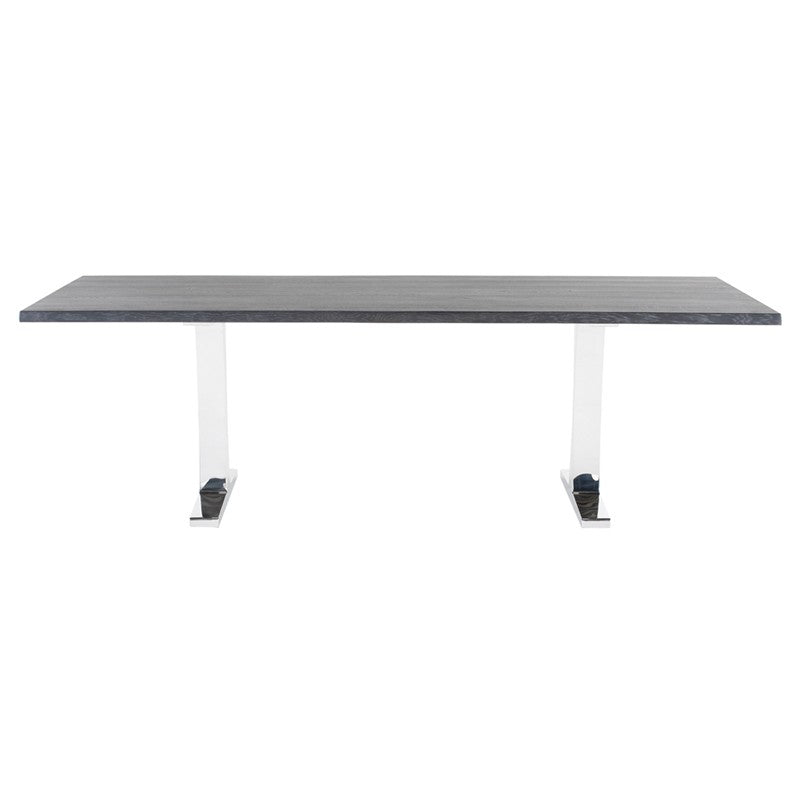 Toulouse Oxidized Grey Wood Dining Table   TABLE Nuevo Old Bones Furniture Company https://www.oldbonesco.com/