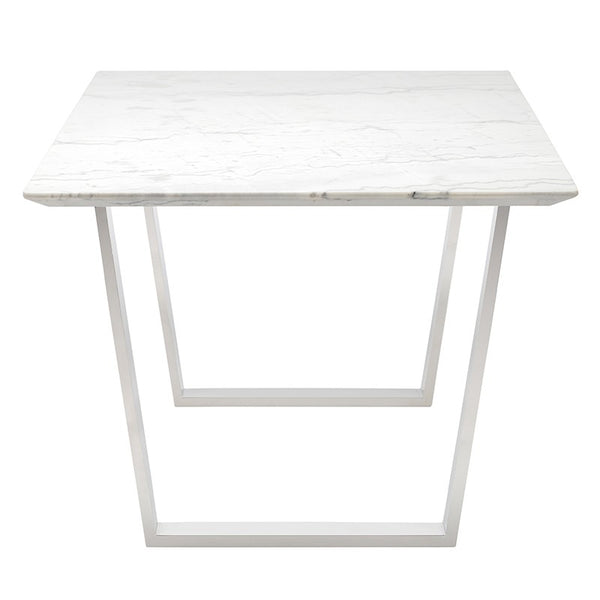 Catrine White Stone Dining Table