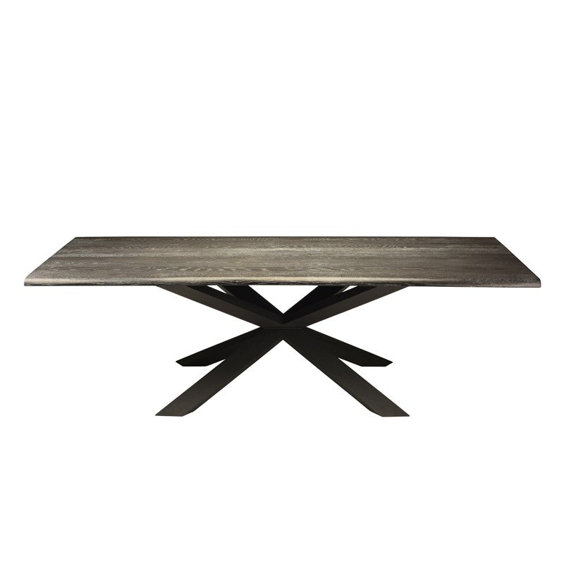 Couture Oxidized Grey Wood Dining Table