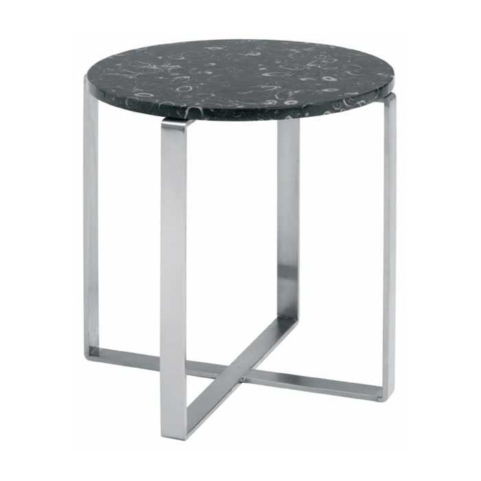 Rosa White Stone Side Table - Old Bones Furniture Company