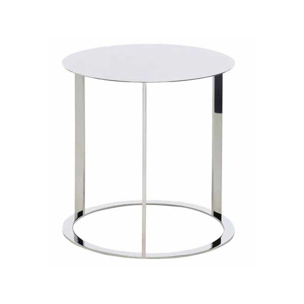 Vera Silver Metal Side Table - Old Bones Furniture Company