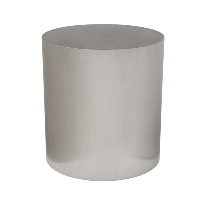Piston Silver Metal Side Table - Old Bones Furniture Company
