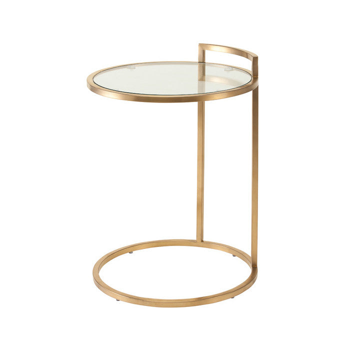 Lily Clear Glass Side Table - Old Bones Furniture Company