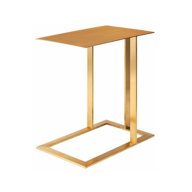 Celine Gold Metal Side Table - Old Bones Furniture Company