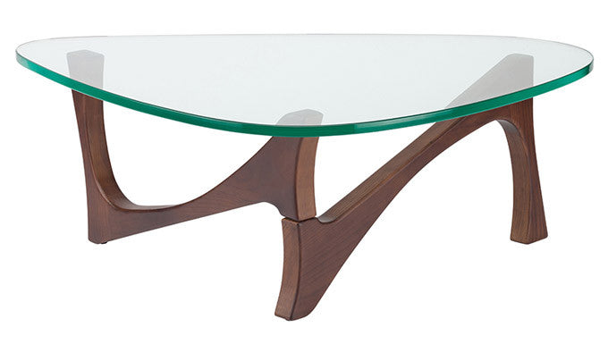 Akiro Clear Glass Coffee Table - Old Bones Furniture Company
