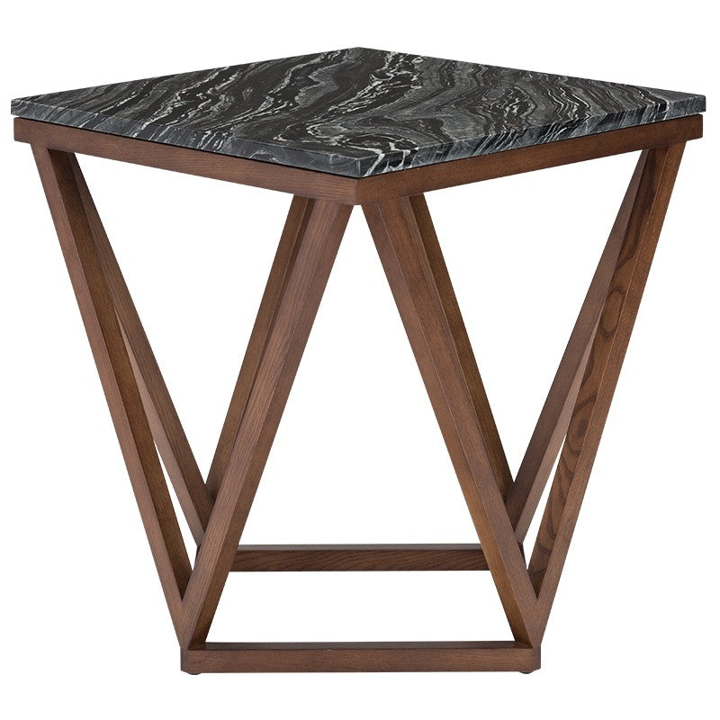 Jasmine Black Stone Side Table