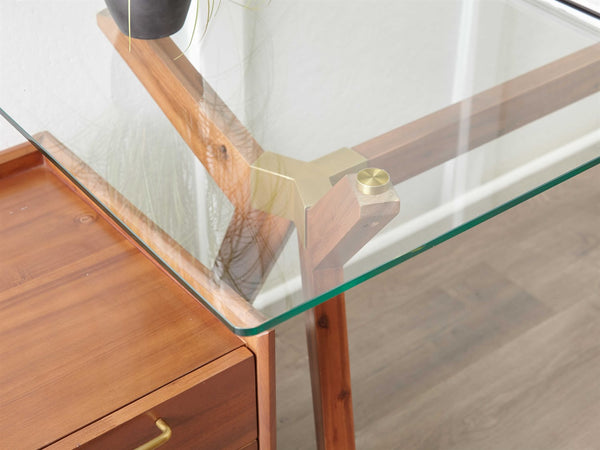 Denali Glass Top Desk