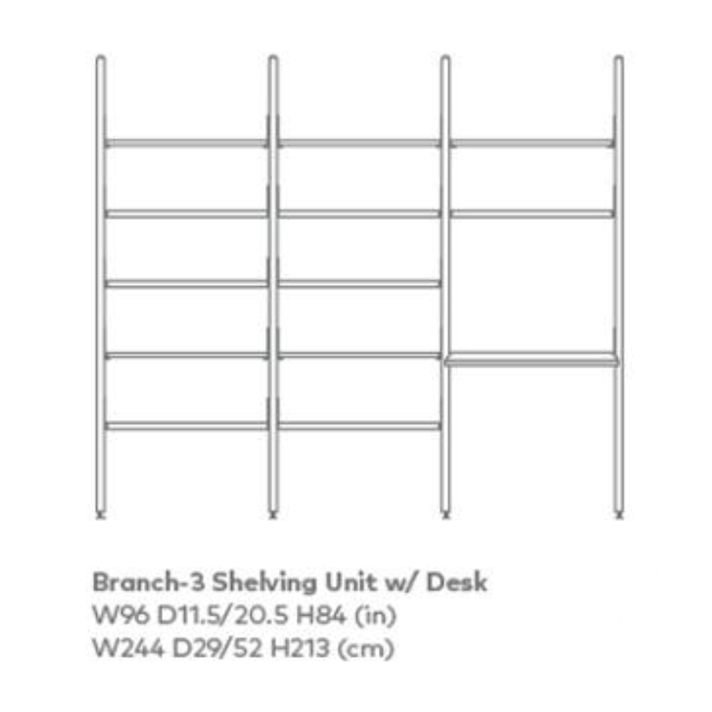 Branch-3 Desk Shelving Unit