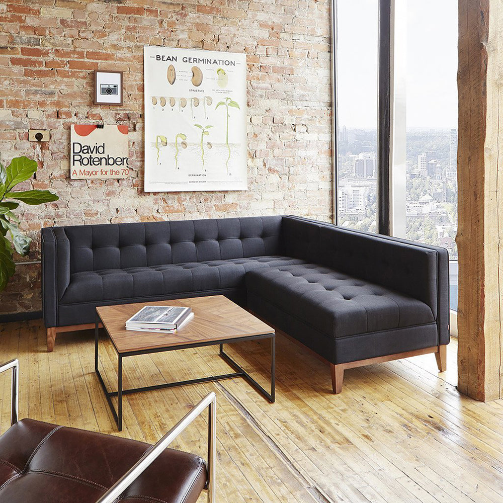 Atwood Bi-Sectional   Sectionals Gus* Four Hands, Mid Century Modern Furniture, Old Bones Furniture Company, https://www.oldbonesco.com/