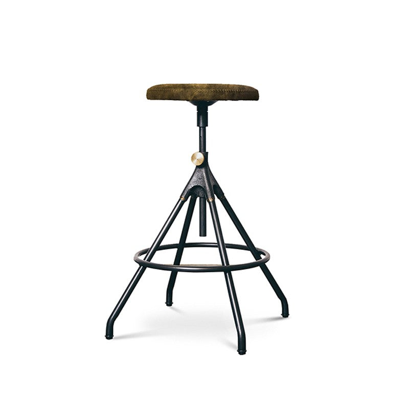 Akron Adj. Stool - Jin Green Leather