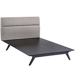 Addison Kind Bed-Blk/Gry - Old Bones Furniture Company