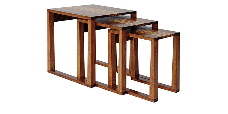 Magnolia Nesting Table, Exotic   Table Greenington Old Bones Furniture Company https://www.oldbonesco.com/