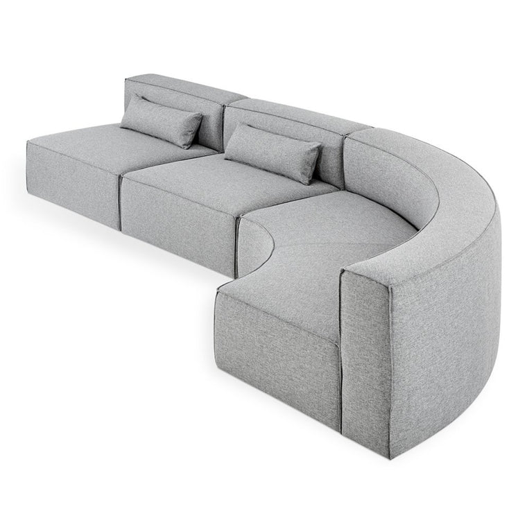 Mix Modular 3-Piece Arc Sectional