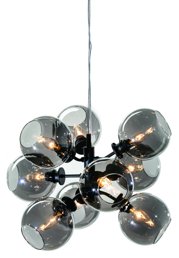 Atom 9 Grey Glass Pendant Lighting - Old Bones Furniture Company