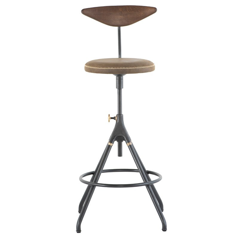 AKRON COUNTER STOOL WITH BACK - JIN GREEN
