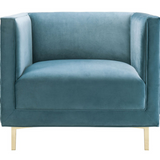 Sal Woven Chair Sea Blue w/ Gold Stainless Steel Legs Sea Blue w/ Gold Stainless Steel Legs Chair TOV Furniture Old Bones Furniture Company https://www.oldbonesco.com/