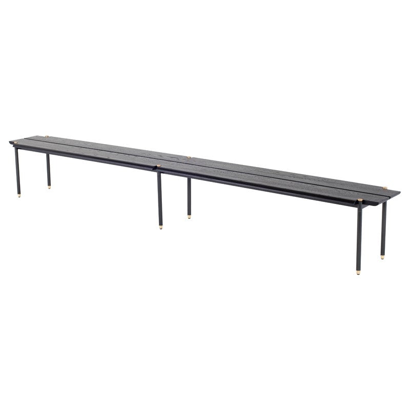 "STACKING BENCH - CHARED BLACK 118""L"