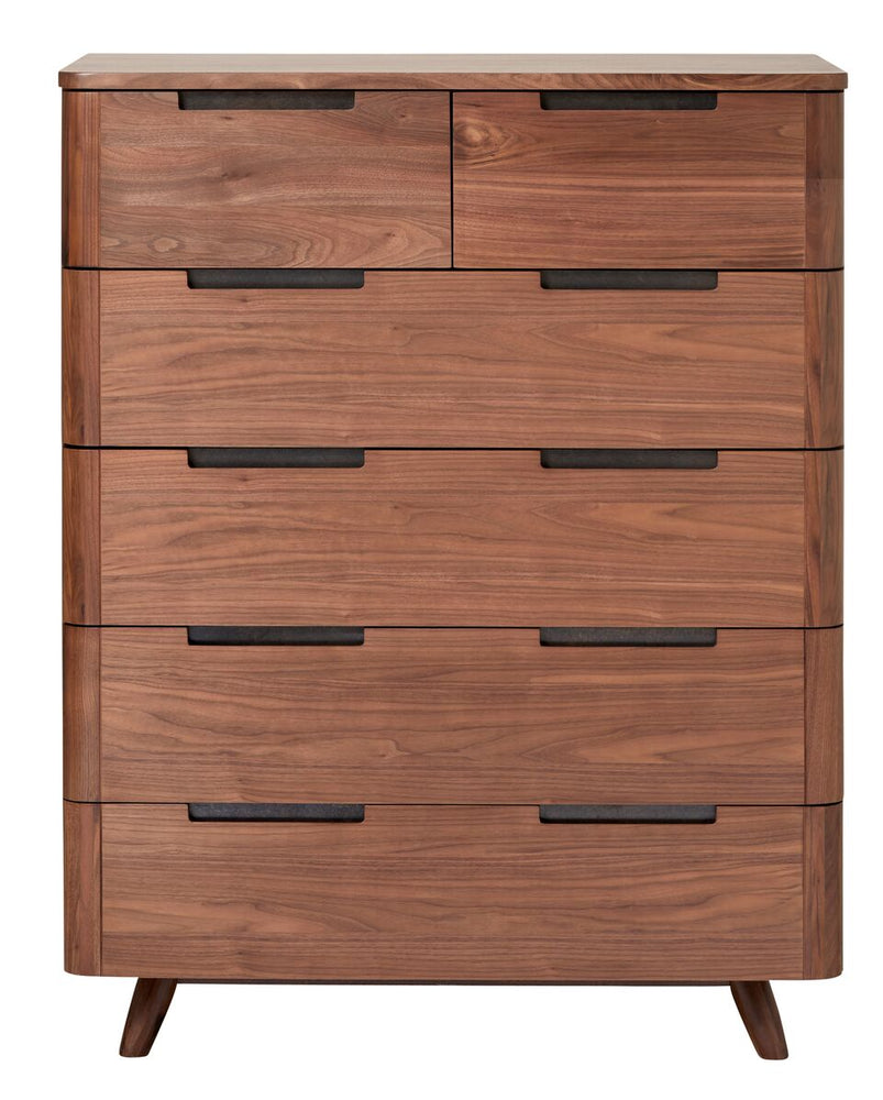 Tahoe MCM Walnut 6 Drawer Chest