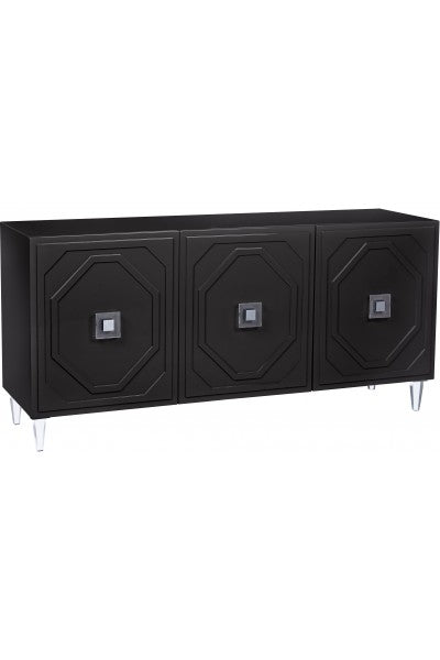 Andros Black Lacquer Buffet - Old Bones Furniture Company