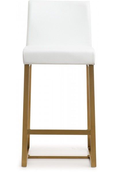 Denmark White Gold Steel Counter Stool (Set of 2)   Counter Stool TOV Furniture Four Hands, Mid Century Modern Furniture, Old Bones Furniture Company, https://www.oldbonesco.com/